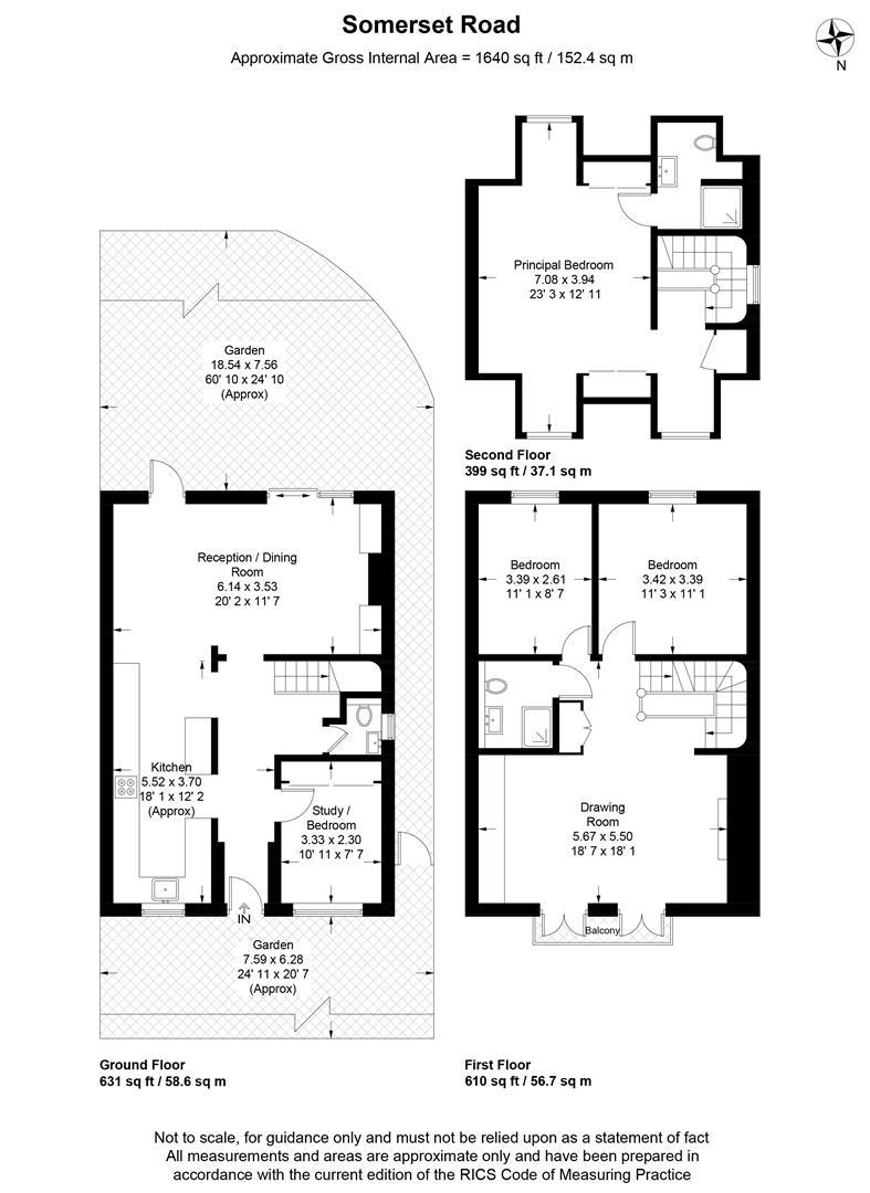Floorplan for Somerset Road, Wimbledon